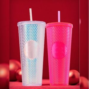 IRIDESCENT COLD CUP – NEON PINK (24 OZ)